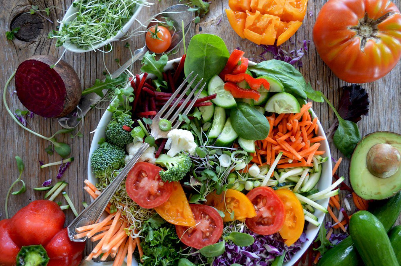 Healthy salad meal