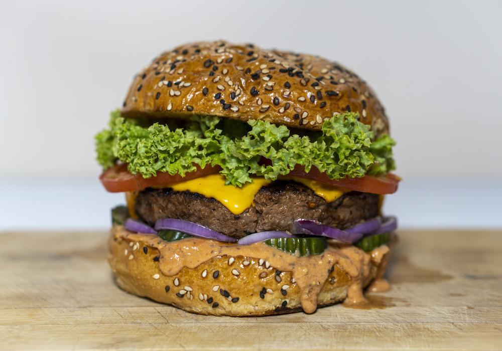 Plant based meat alternative burger